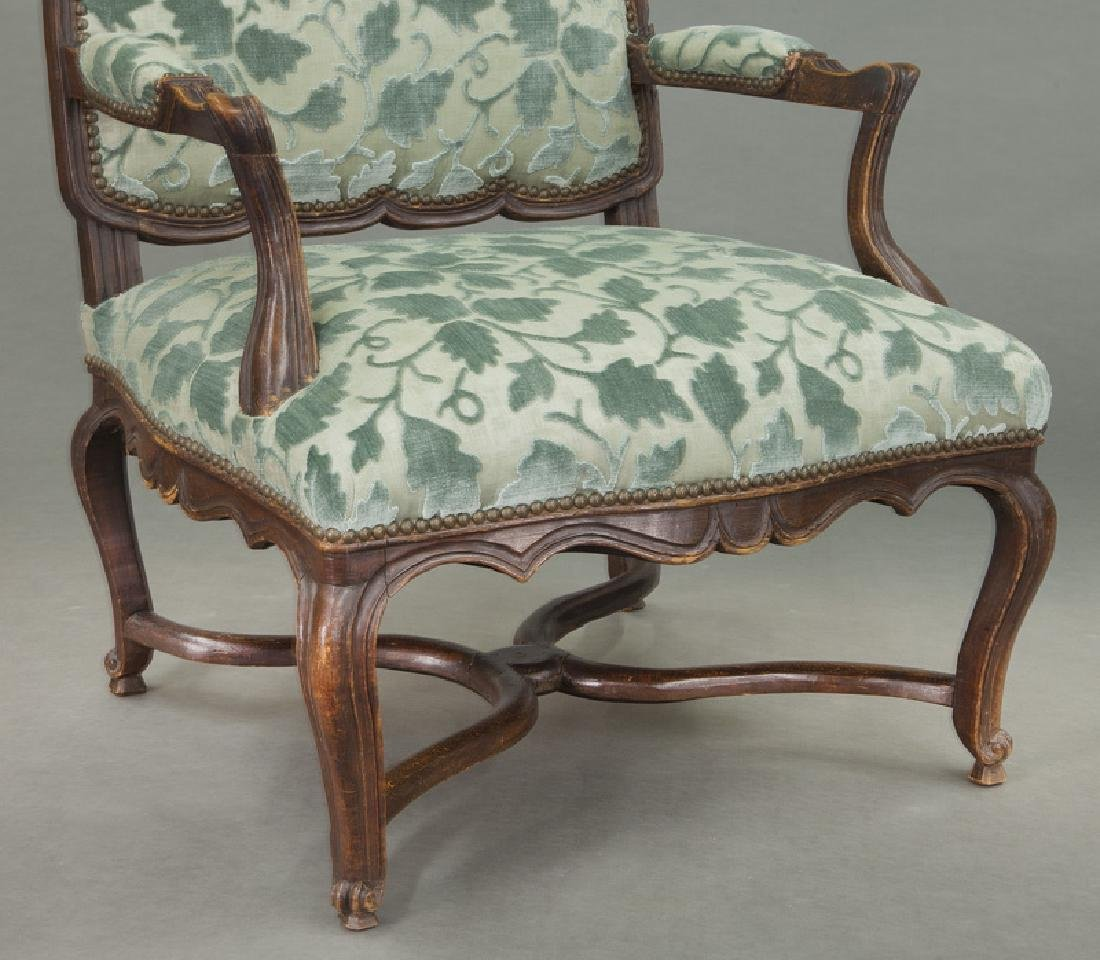 Pr. Regence style armchairs - 8