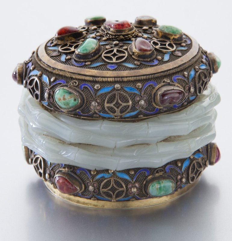 Chinese enamel over silver box - 2