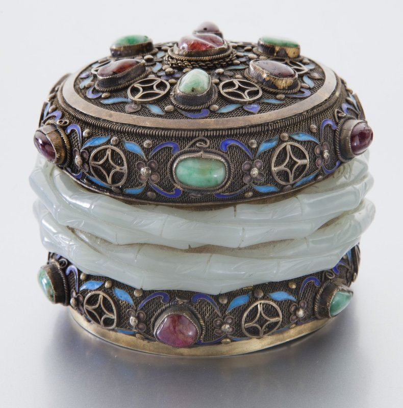 Chinese enamel over silver box - 3