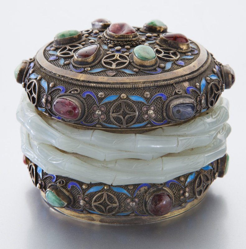 Chinese enamel over silver box - 4