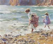 """Dianne Elizabeth Flynn """"Afternoon Surf"""" oil on"""