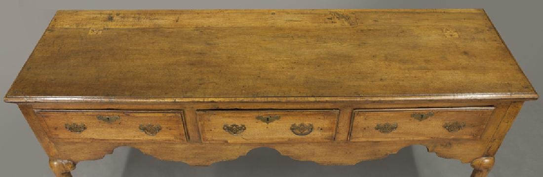 18th C. English Queen Anne style dresser base - 6