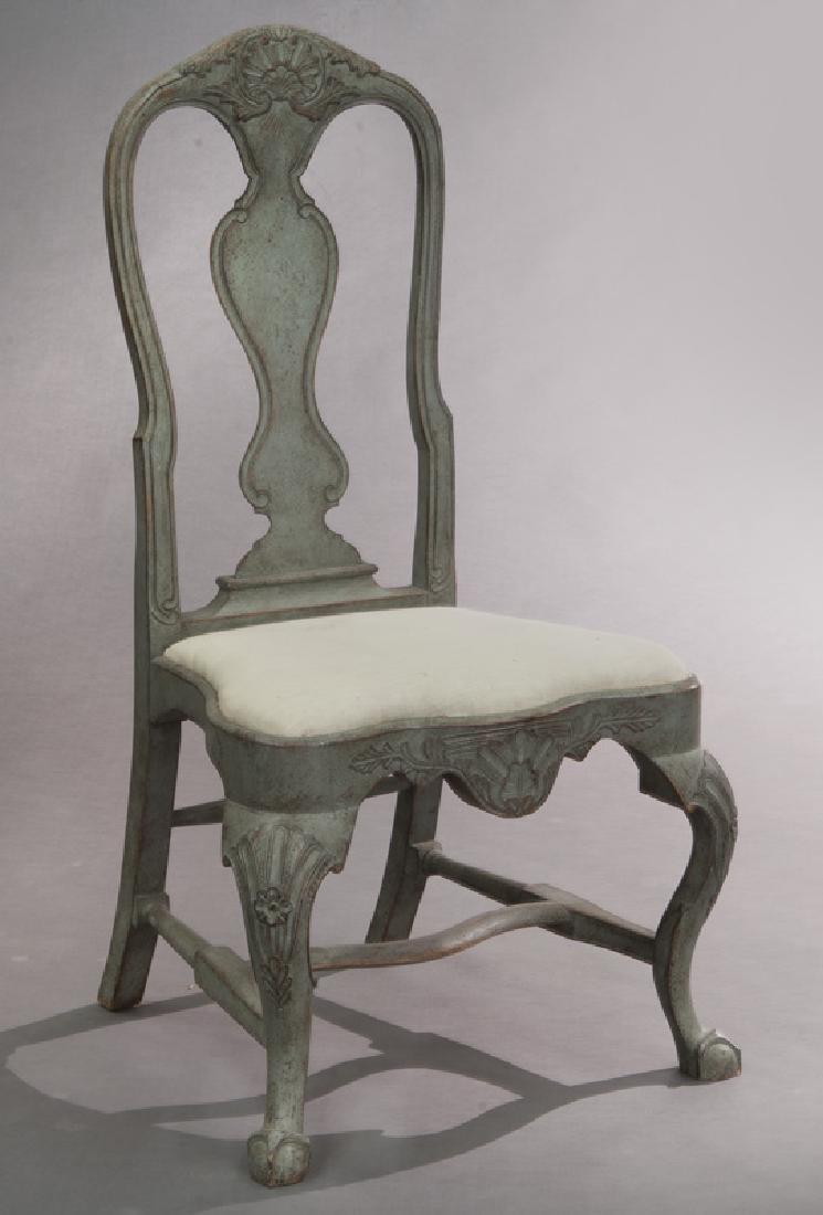 Set of (6) Swedish Gustavian style dining chairs - 2