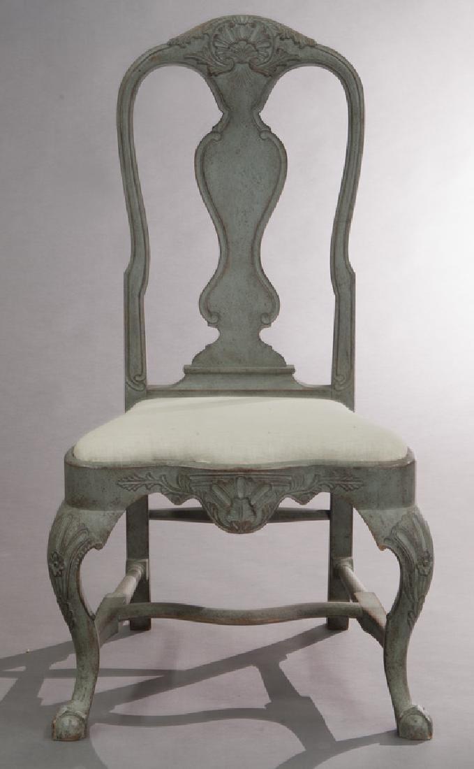 Set of (6) Swedish Gustavian style dining chairs - 3