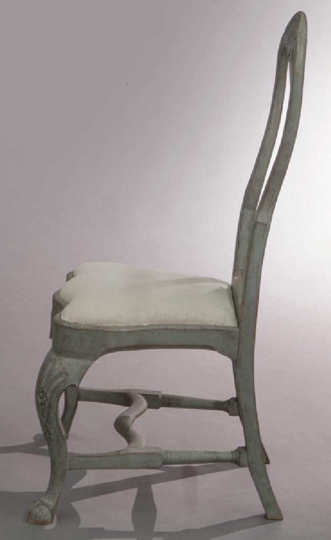 Set of (6) Swedish Gustavian style dining chairs - 4