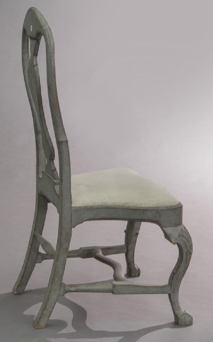 Set of (6) Swedish Gustavian style dining chairs - 6