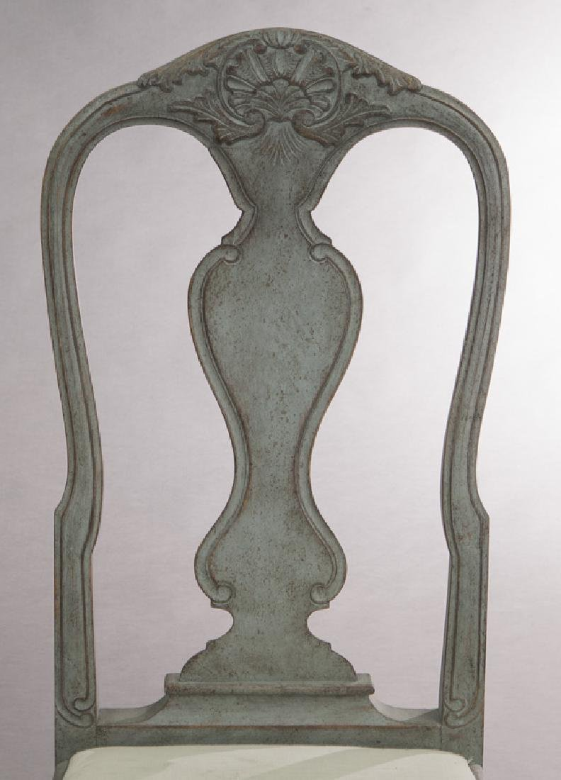 Set of (6) Swedish Gustavian style dining chairs - 7