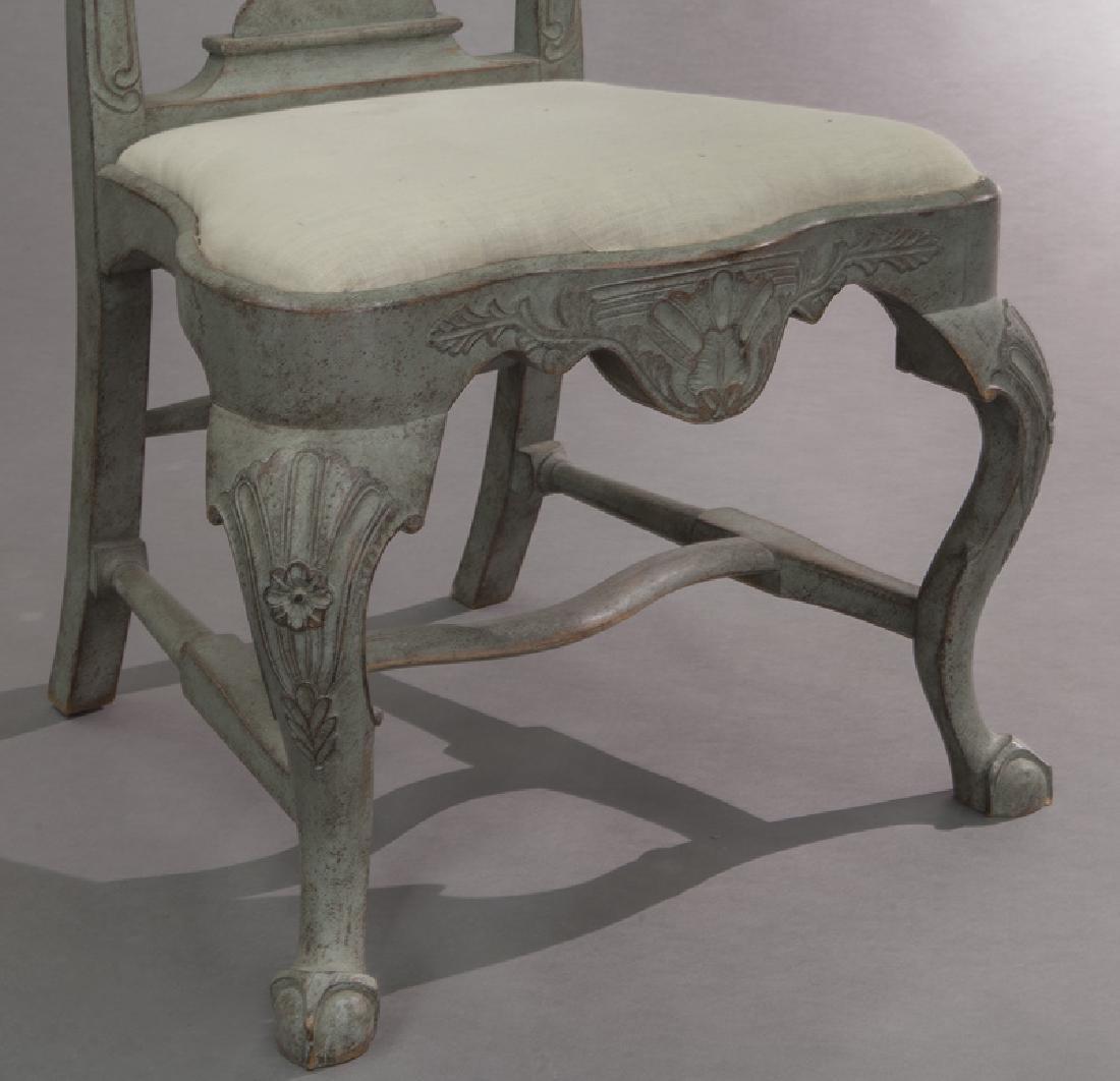 Set of (6) Swedish Gustavian style dining chairs - 8