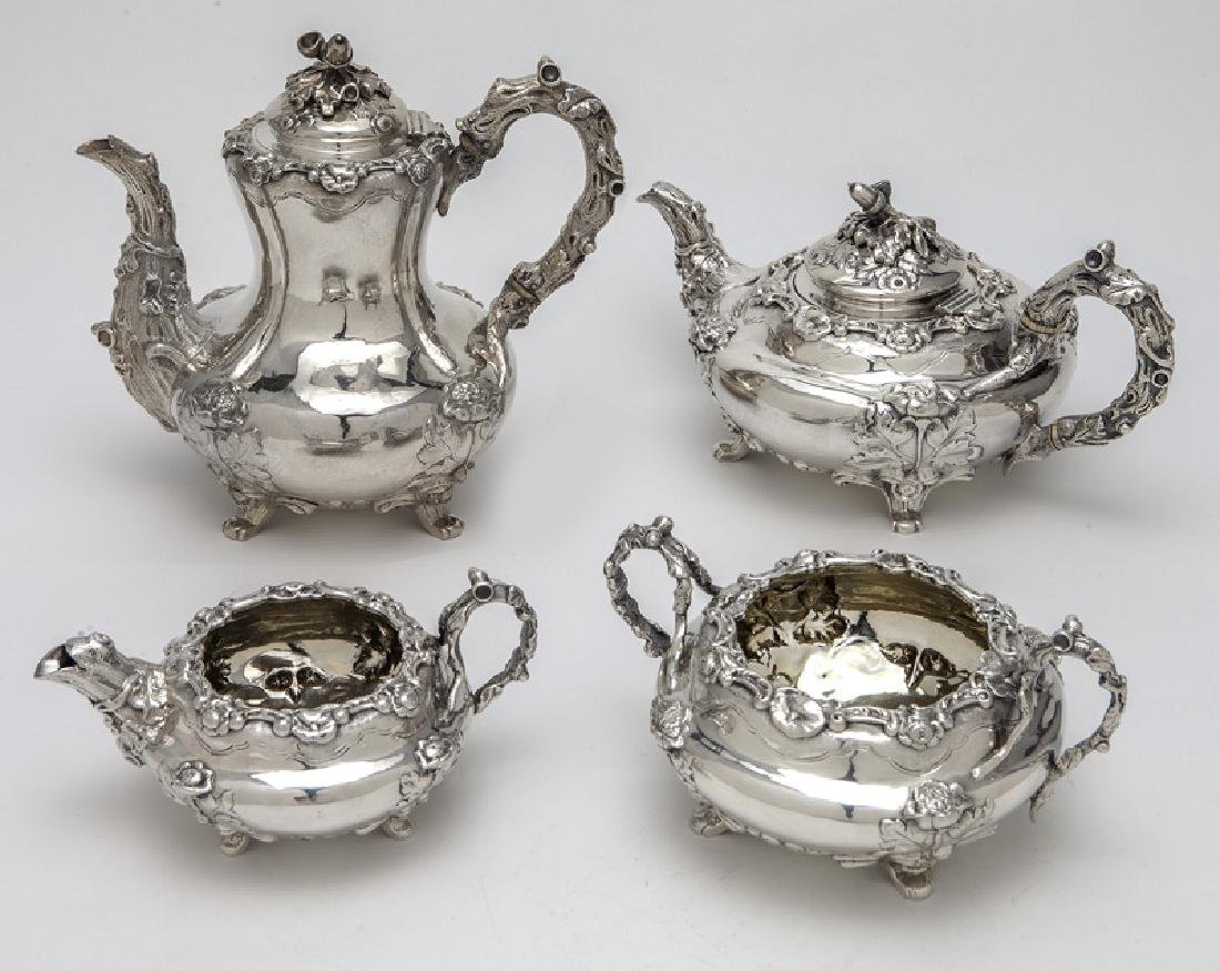 4 Pc. English sterling silver tea set