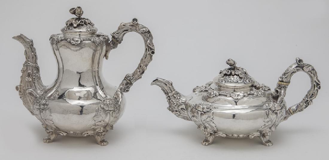 4 Pc. English sterling silver tea set - 2