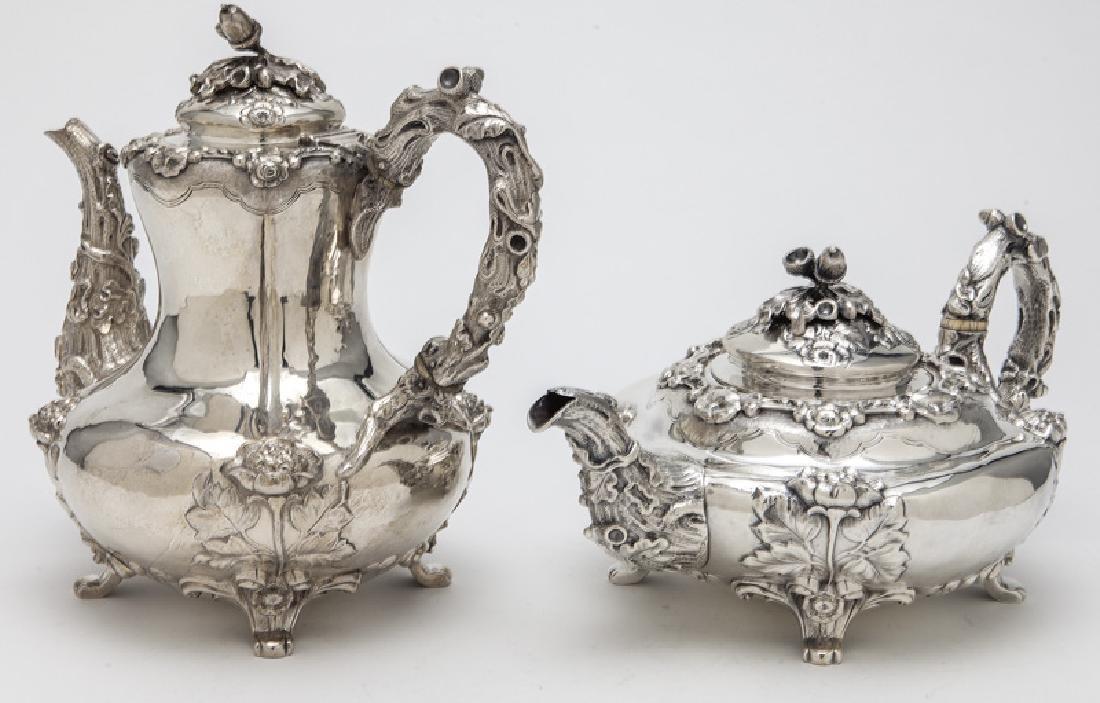 4 Pc. English sterling silver tea set - 3
