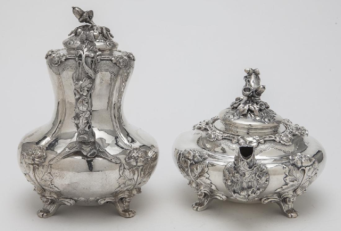 4 Pc. English sterling silver tea set - 4