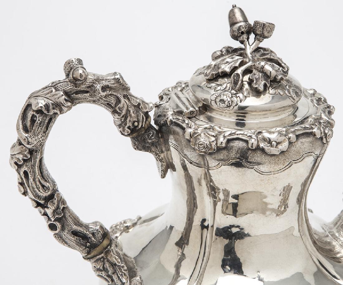 4 Pc. English sterling silver tea set - 7