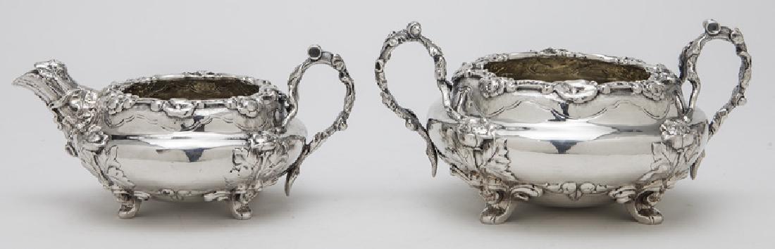 4 Pc. English sterling silver tea set - 8