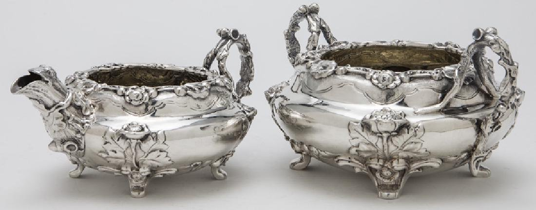 4 Pc. English sterling silver tea set - 9