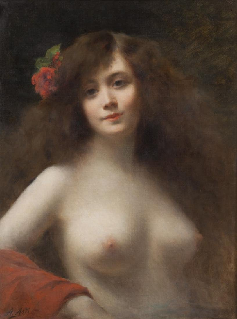 """Angelo Asti """"Untitled (Nude with a red"""
