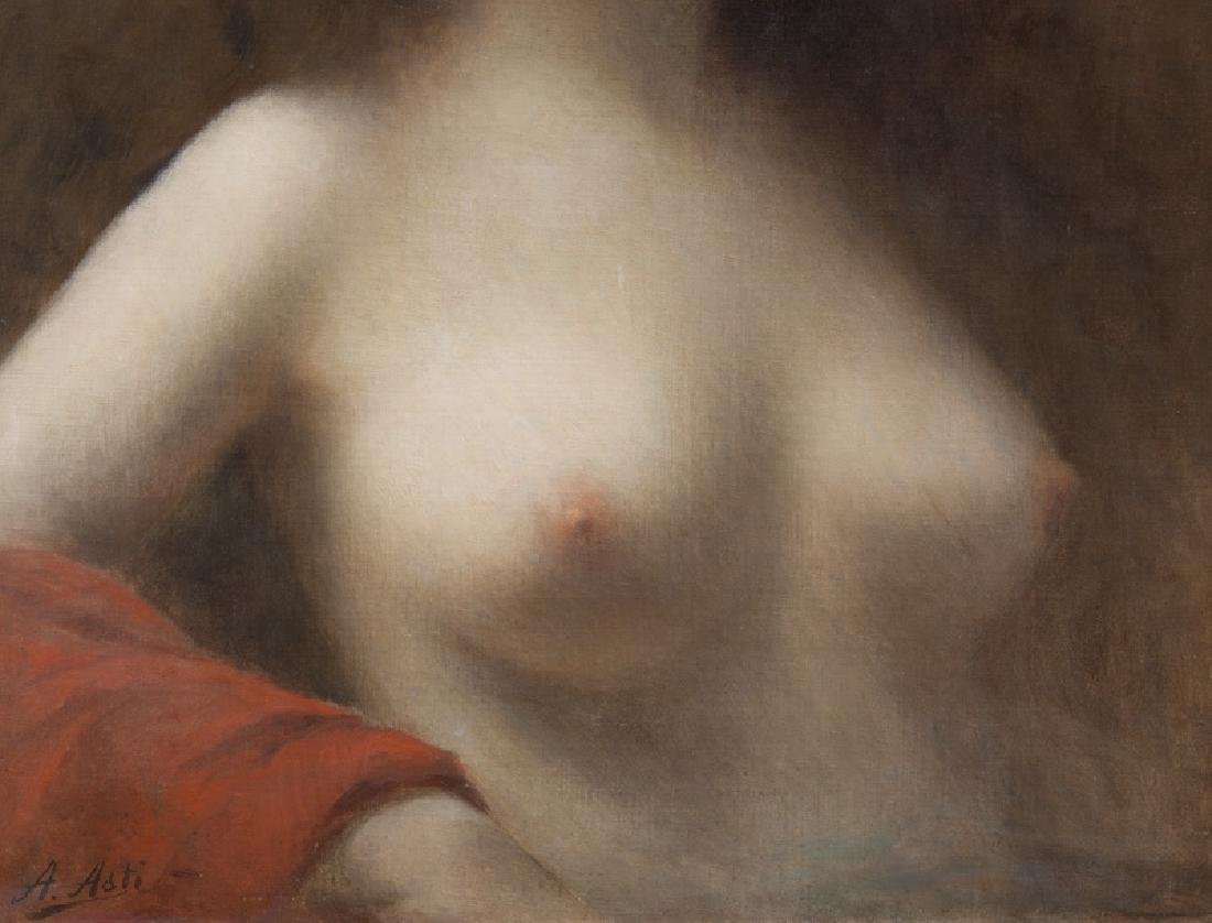 """Angelo Asti """"Untitled (Nude with a red - 4"""