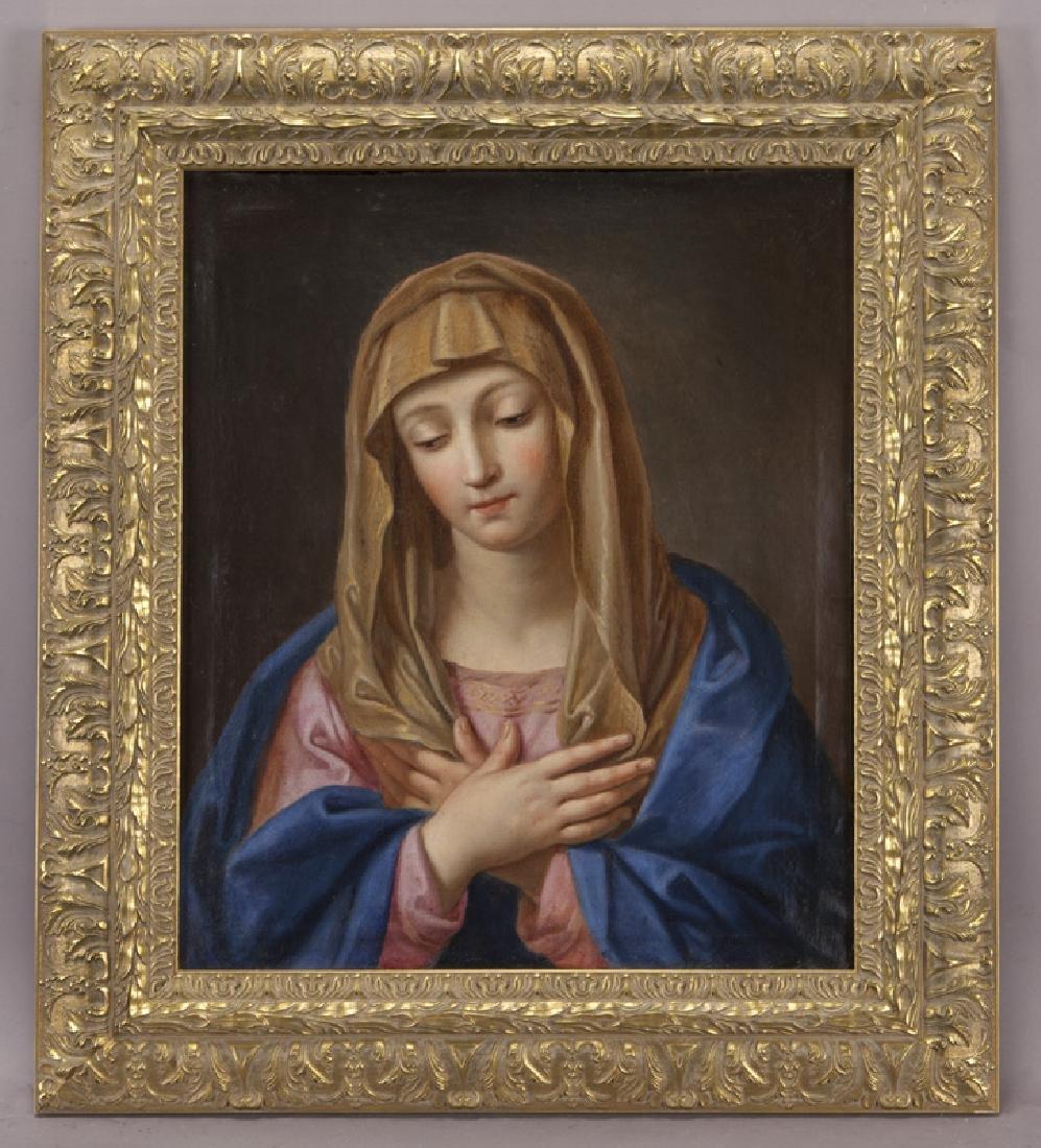 19th C. portrait of Madonna, with downcast gaze, - 2