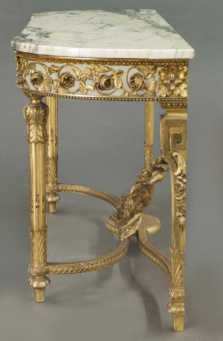 Louis XVI marble top console table, - 3