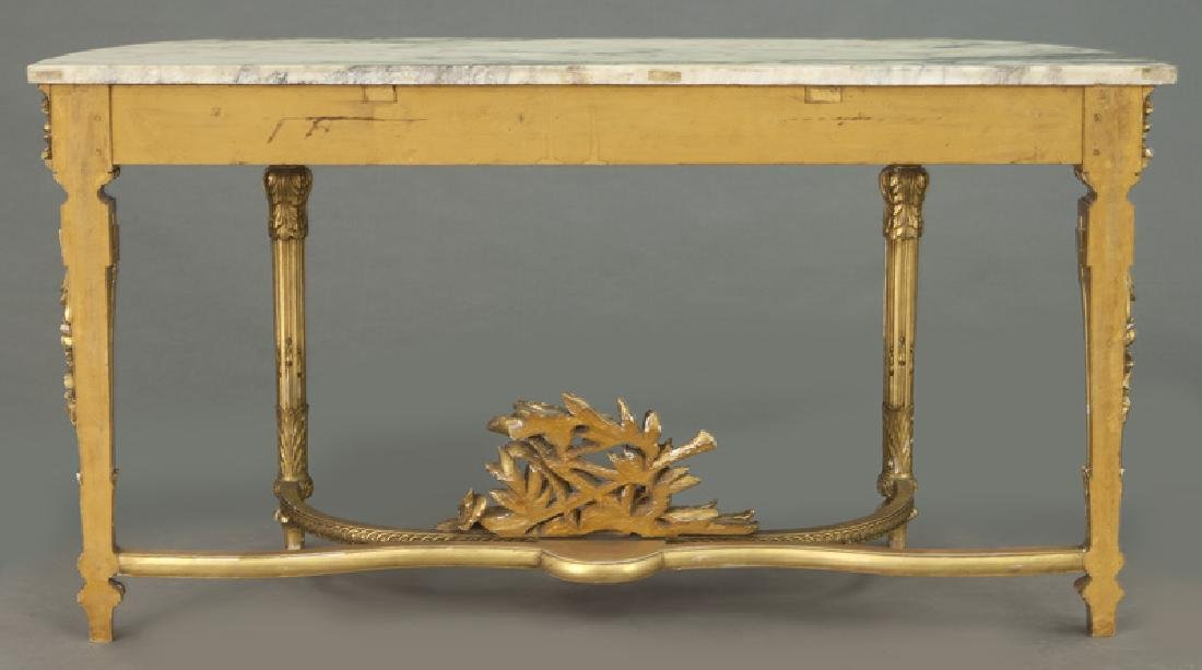 Louis XVI marble top console table, - 4