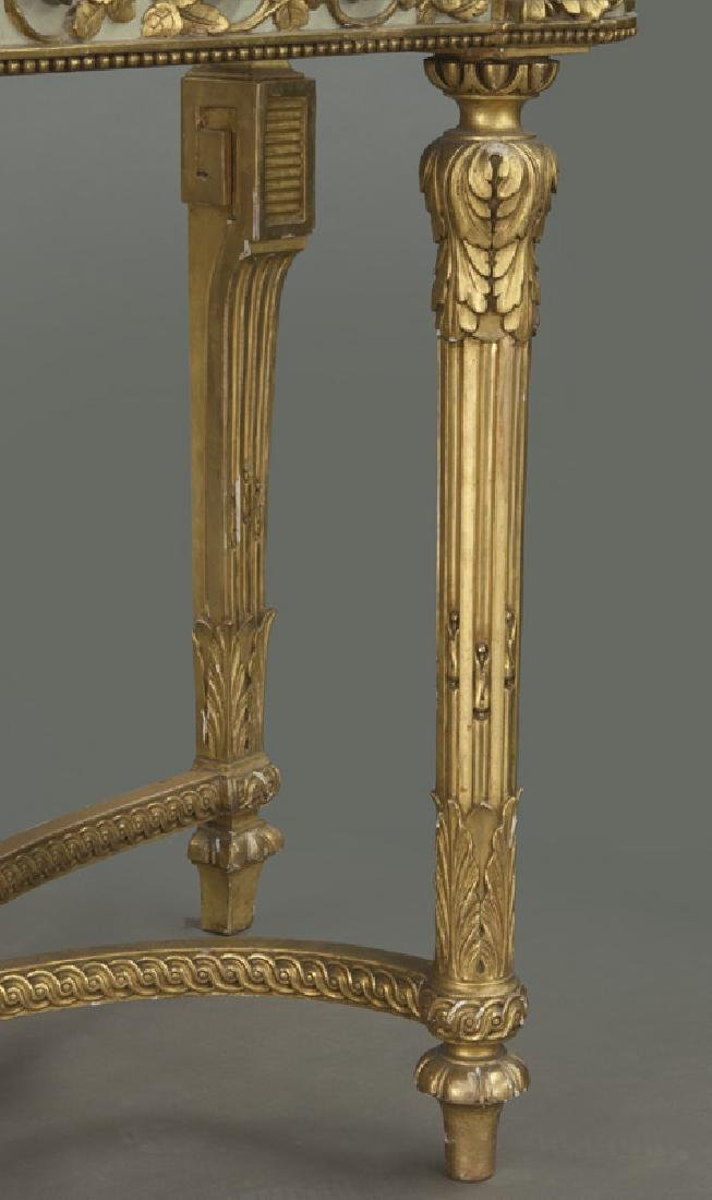 Louis XVI marble top console table, - 8