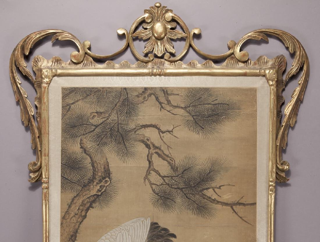 Chinese painting of cranes and pine trees in - 3