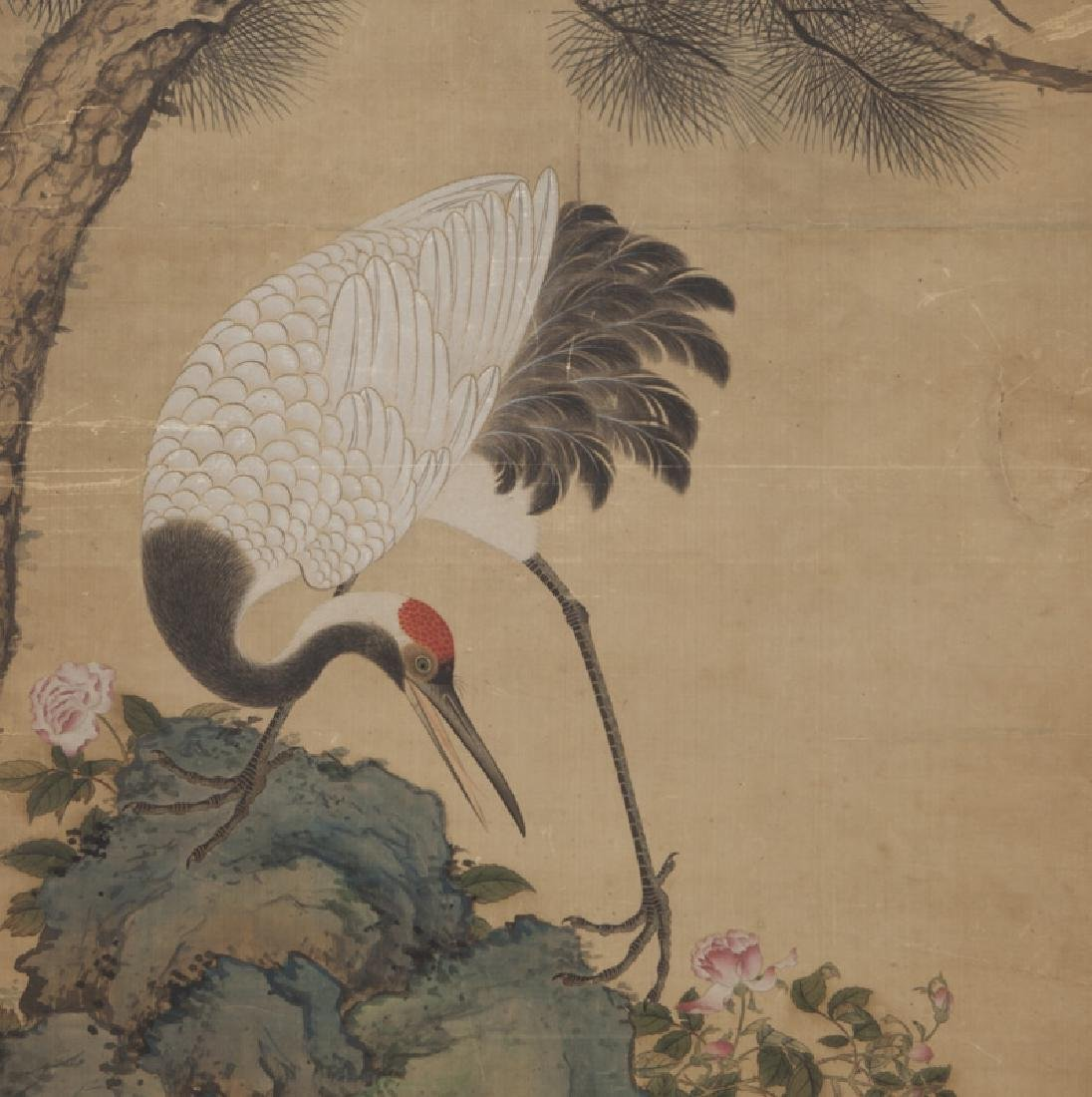 Chinese painting of cranes and pine trees in - 4