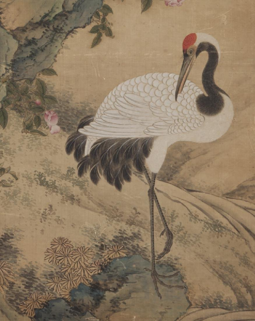 Chinese painting of cranes and pine trees in - 5