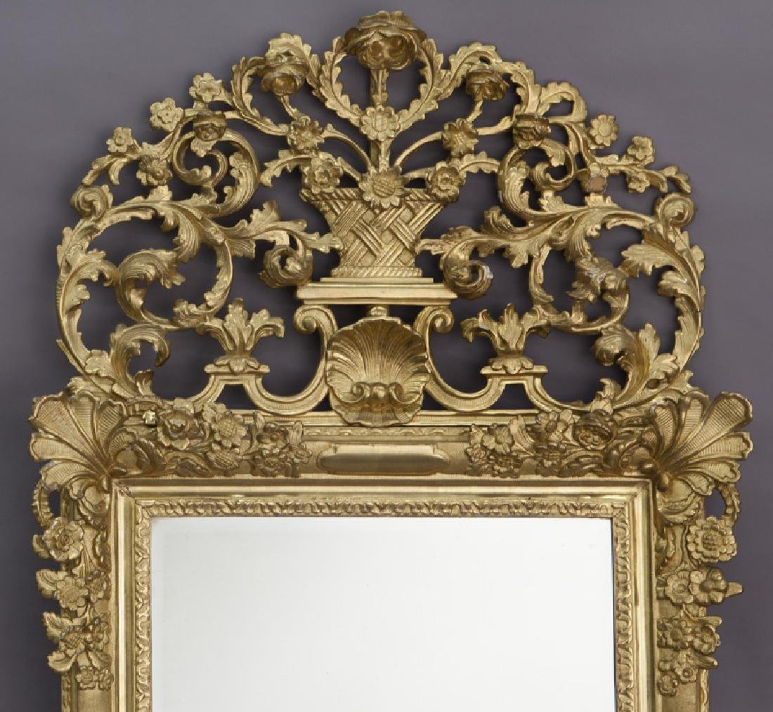 French carved giltwood mirror - 2