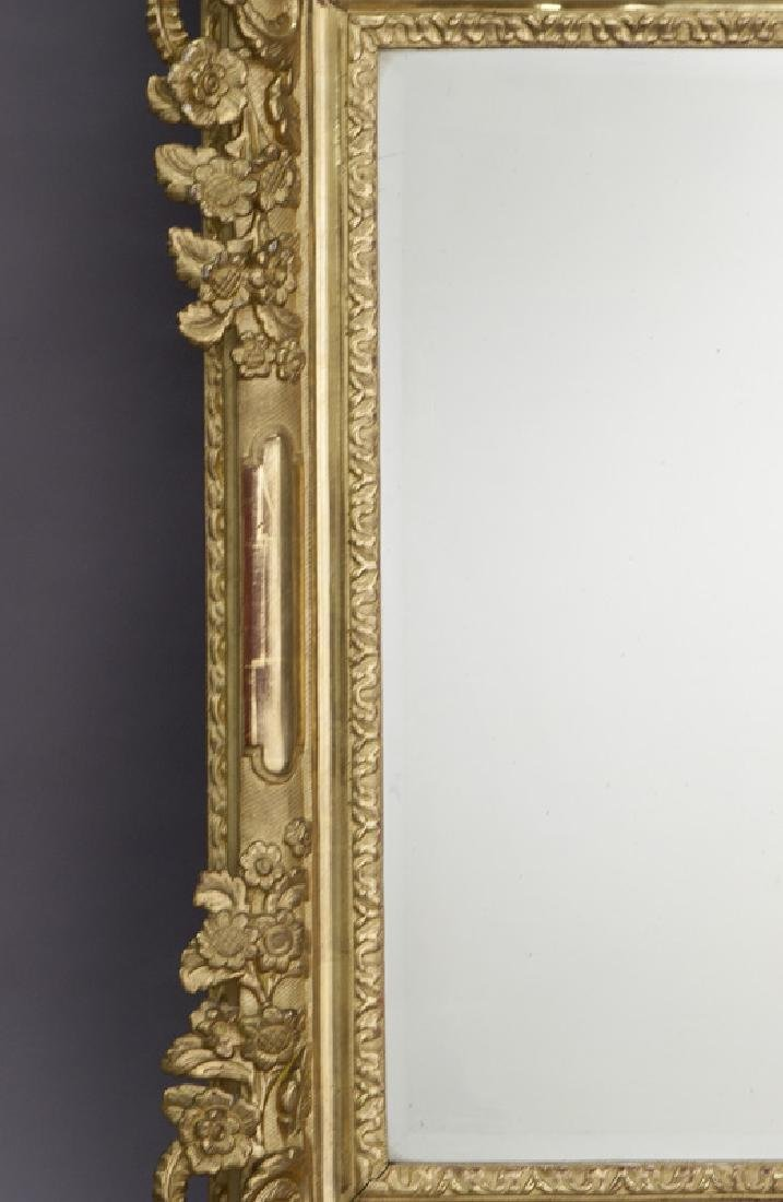 French carved giltwood mirror - 3