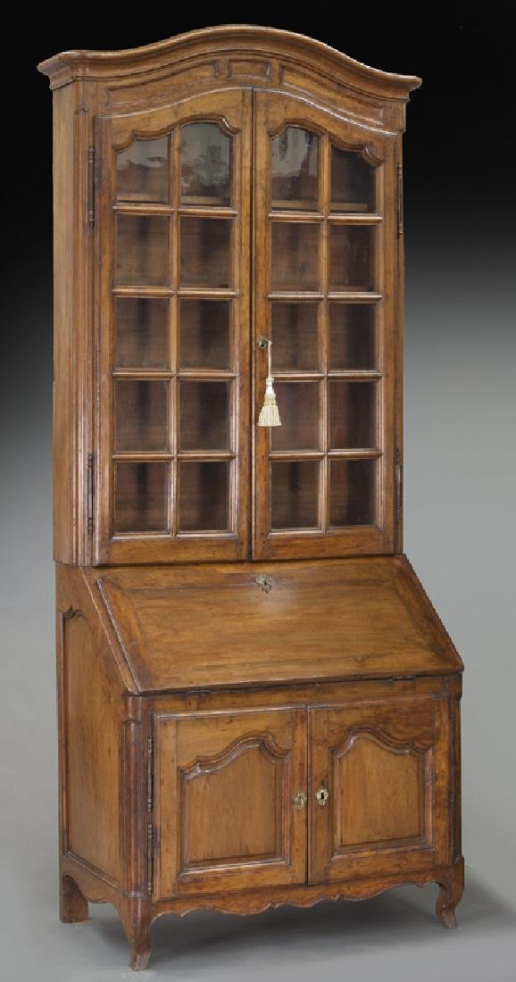 Country French cherry bureau bookcase