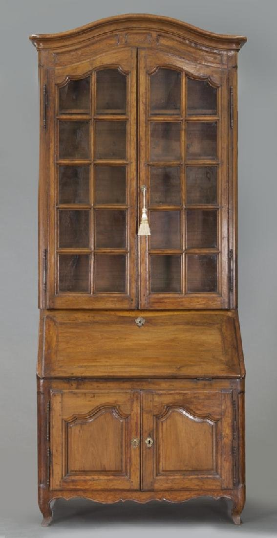 Country French cherry bureau bookcase - 2