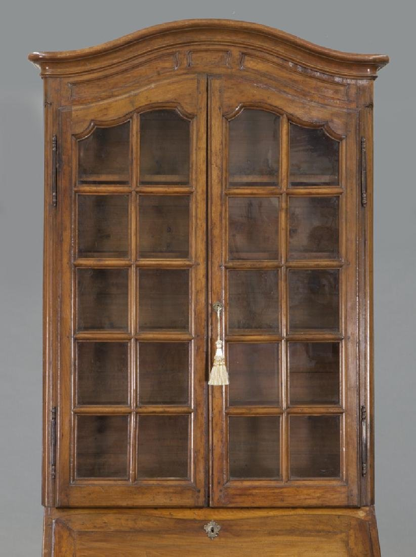 Country French cherry bureau bookcase - 6