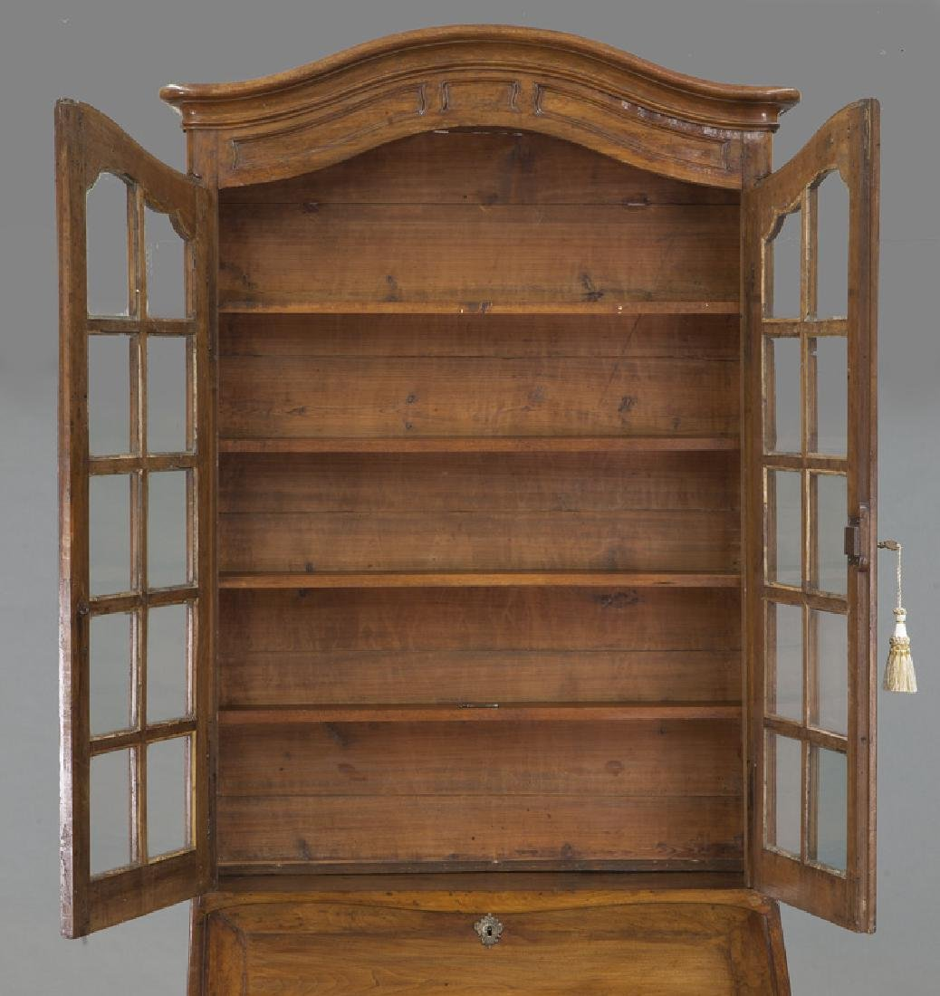 Country French cherry bureau bookcase - 7