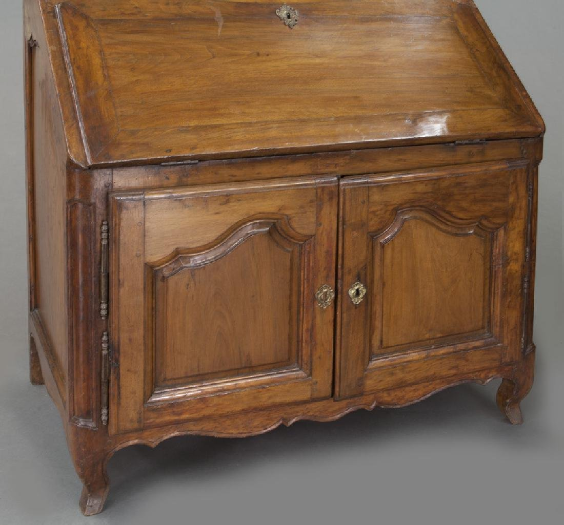 Country French cherry bureau bookcase - 8