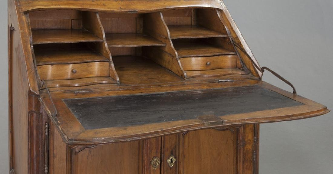 Country French cherry bureau bookcase - 9