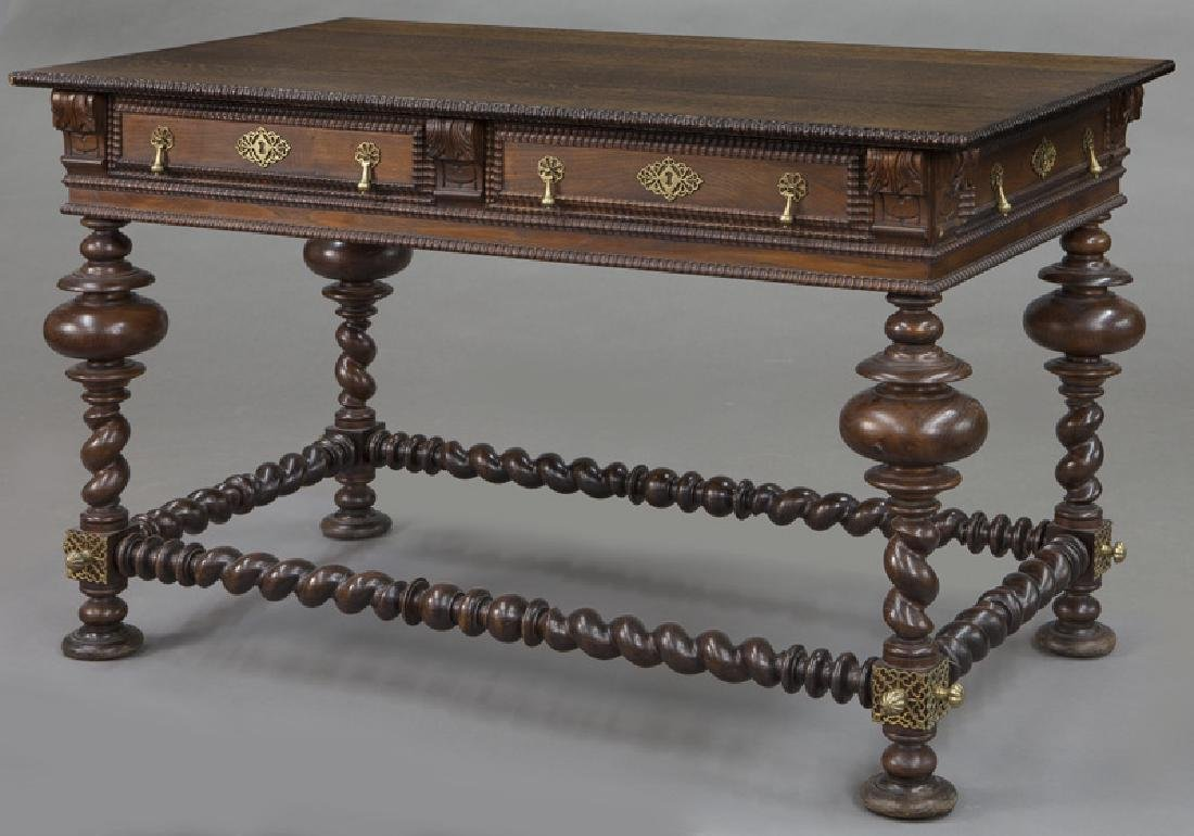 Portuguese 2-drawer library table - 4