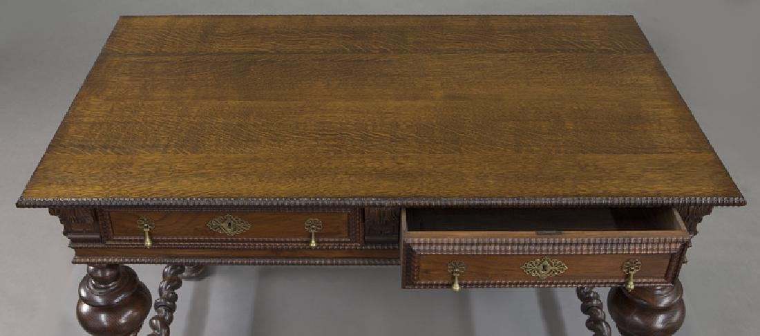 Portuguese 2-drawer library table - 6