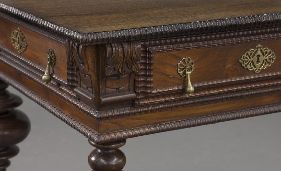 Portuguese 2-drawer library table - 7