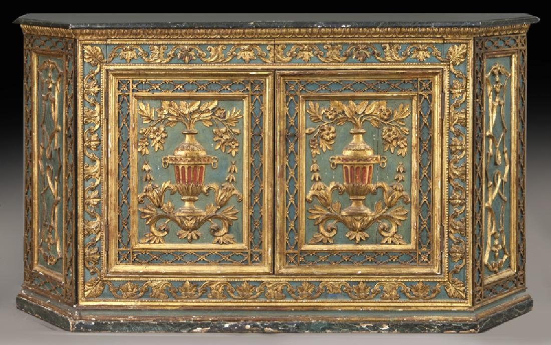 Venetian polychrome decorated credenza,