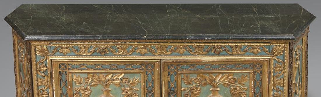 Venetian polychrome decorated credenza, - 6