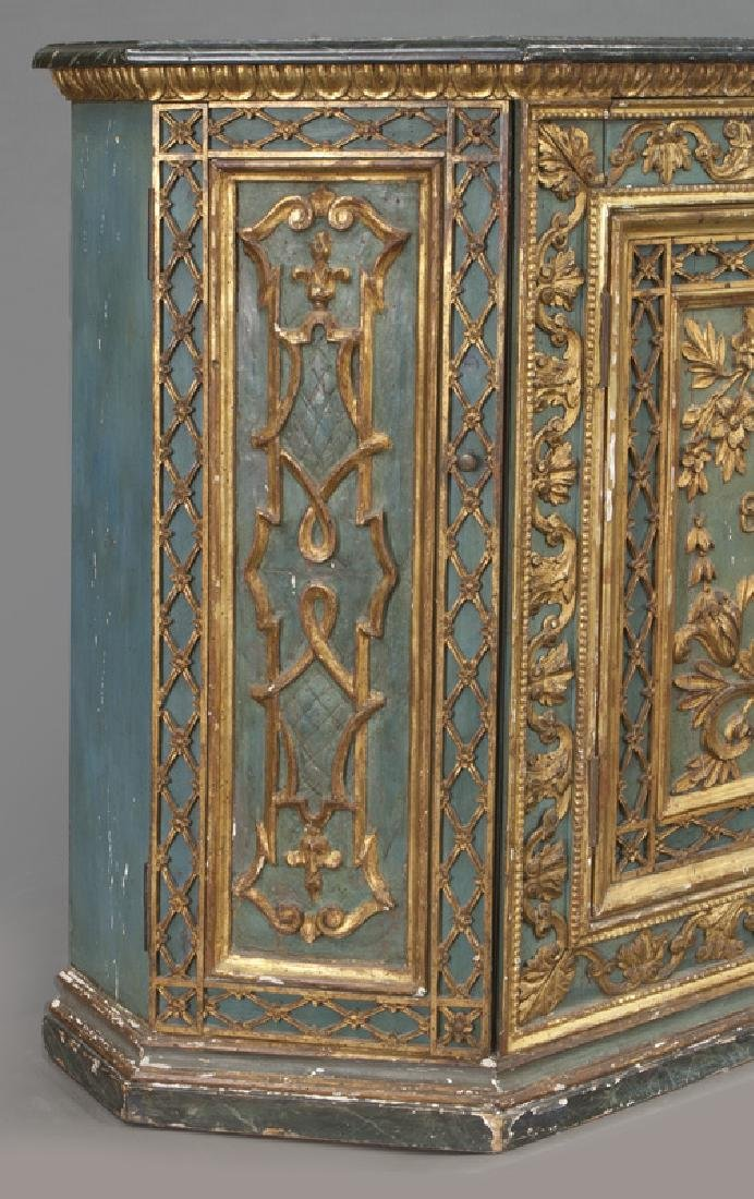 Venetian polychrome decorated credenza, - 8