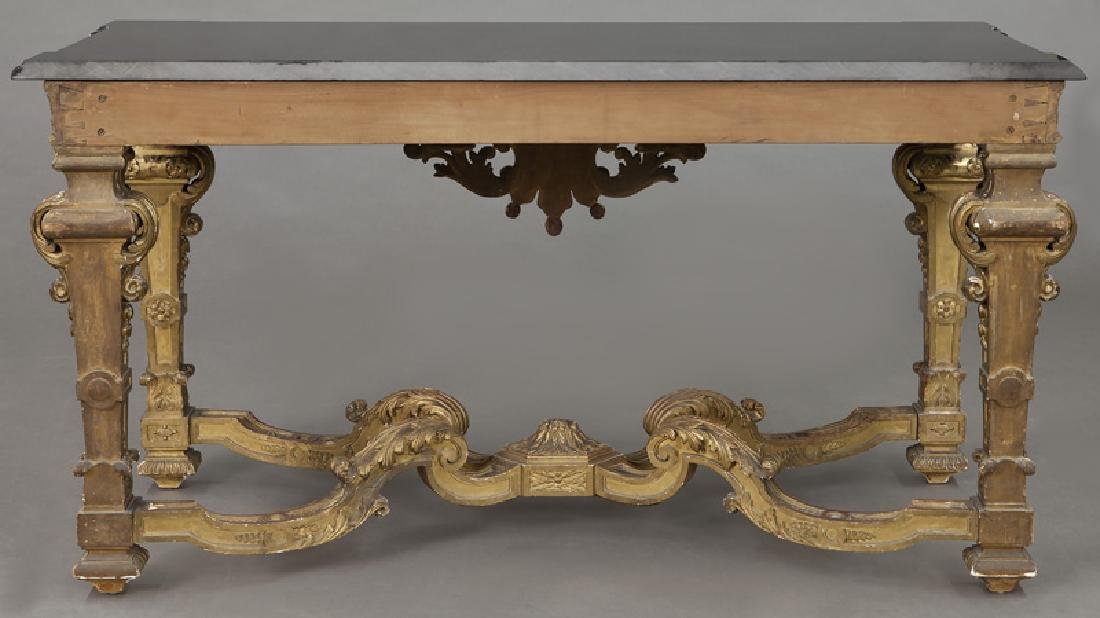 Napoleon III gilt carved marble top console table - 6