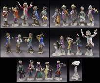 24 Pcs. Meissen and other monkey band figures,