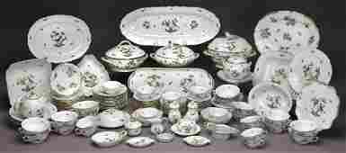 126 Pcs Herend Rothschild Bird pattern dinner