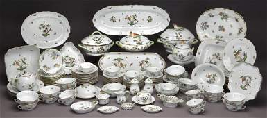 "126 Pcs. Herend ""Rothschild Bird"" pattern dinner"
