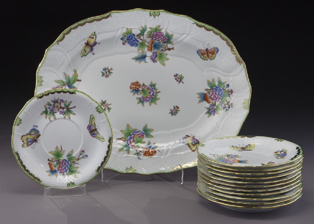 "126 Pcs. Herend ""Rothschild Bird"" pattern dinner - 2"