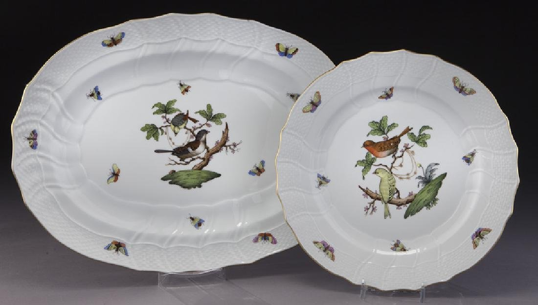 "126 Pcs. Herend ""Rothschild Bird"" pattern dinner - 5"