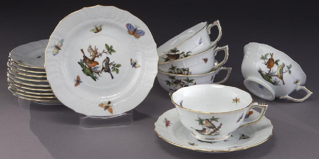 "126 Pcs. Herend ""Rothschild Bird"" pattern dinner - 6"