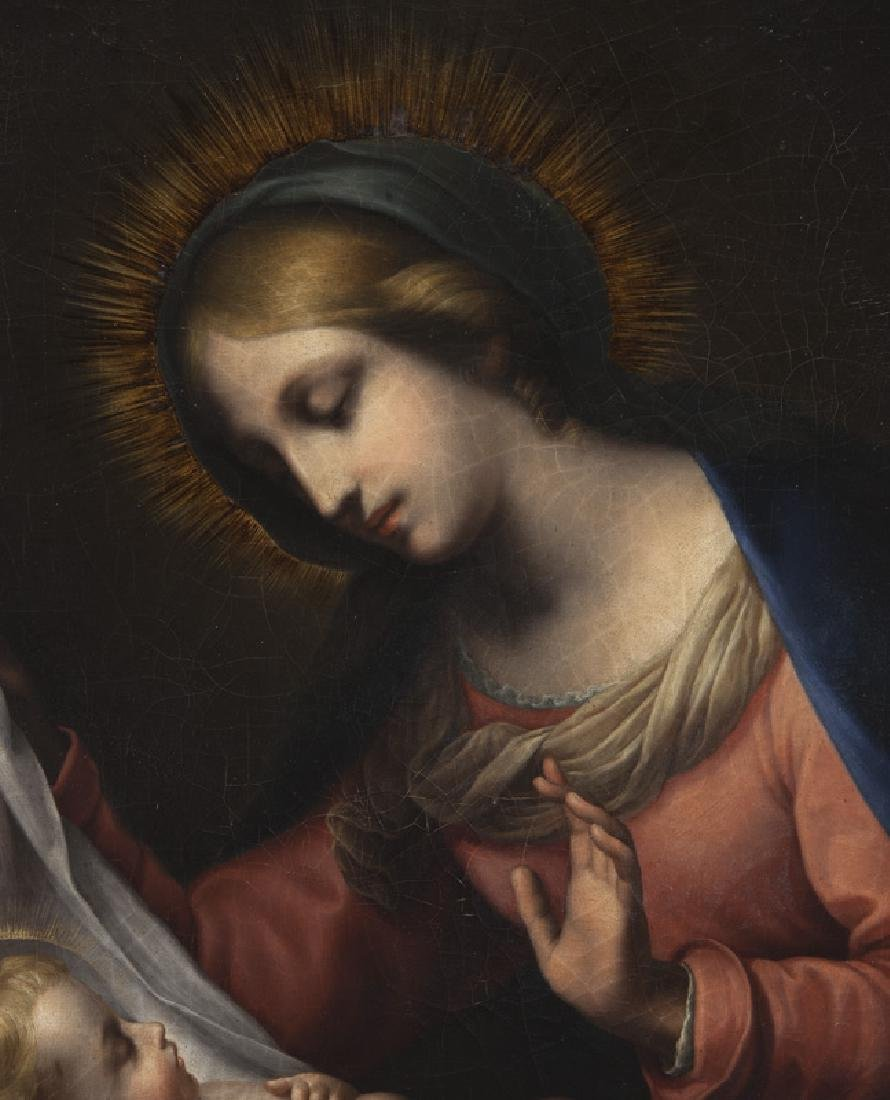 19th C. painting of Madonna and Child set in a - 3